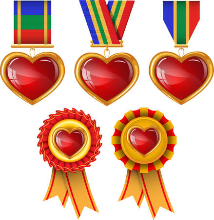 Hearts awards  Vector