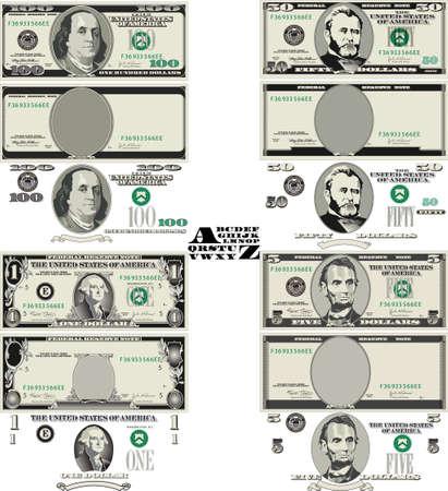 Vector Money - Dollaro Vector Vettoriali