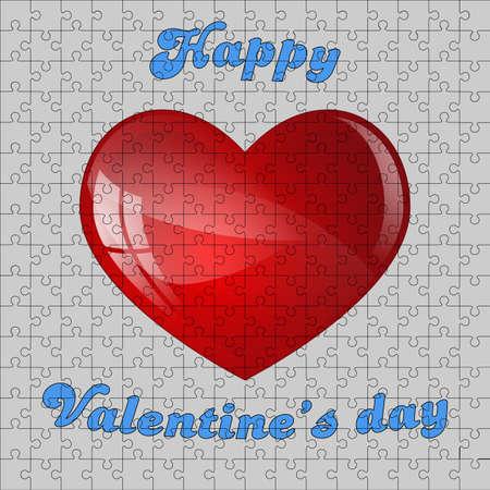 Puzzle di San Valentino s vettore Vettoriali