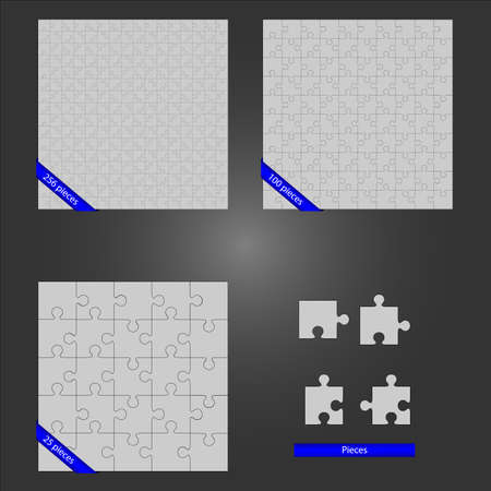 Puzzles and parts  Vector
