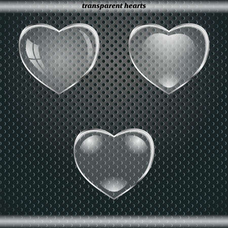 Transparent hearts Vector Illustration
