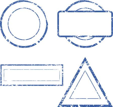 Set of empty stamps  Vector