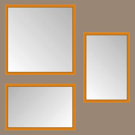 Empty Pictures orange  vector