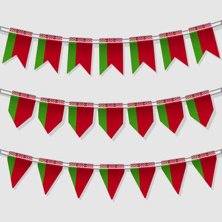 Flag bunting of the world  Belarus  Vector Illustration