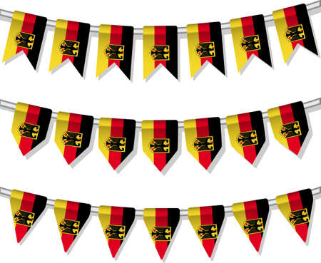 Flag bunting of the world  Germany  Vector