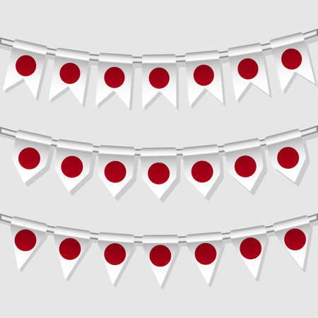 Flag bunting of the world  Japan  Vector