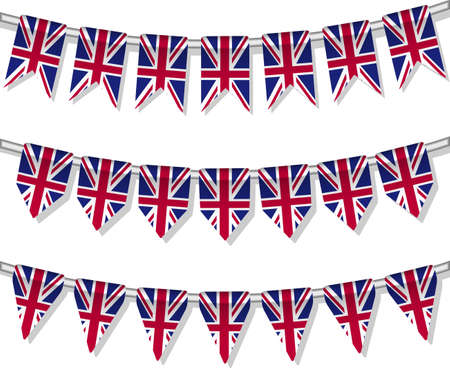 Flag bunting of the world  United Kingdom Vector