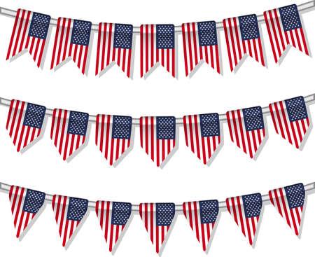Bandiera pavese degli Stati Uniti Vector mondo Vettoriali