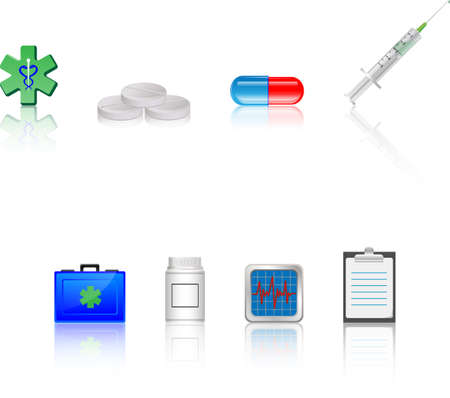 Health care accessories  Vector Vector