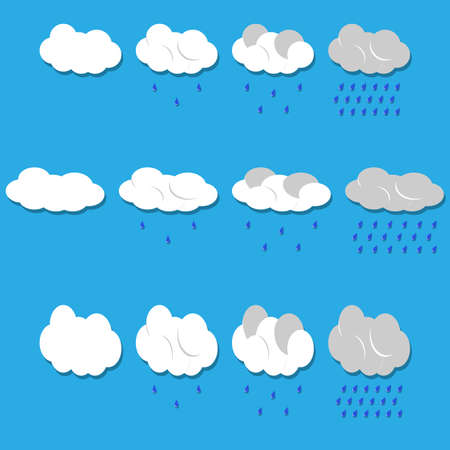 Vector clouds and rain  Vector
