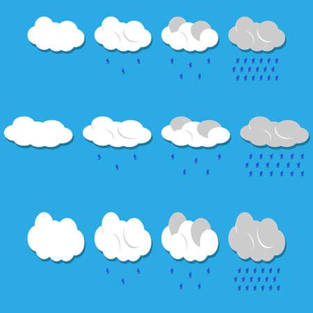 Vettore nuvole e la pioggia Vector