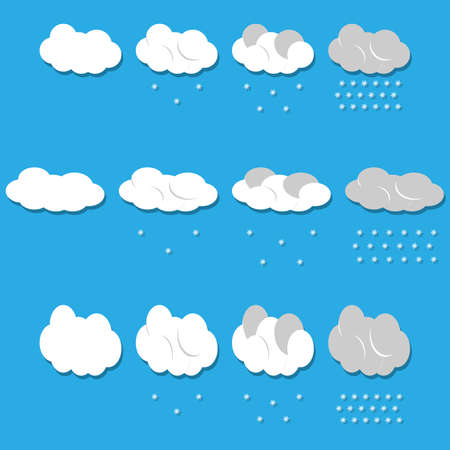 Vector clouds and snow  Vector