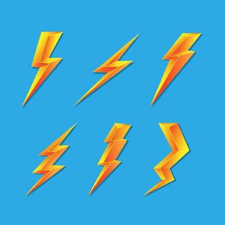 3D lightning vector Vector