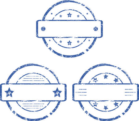 A set of empty round stamps   2  Vector
