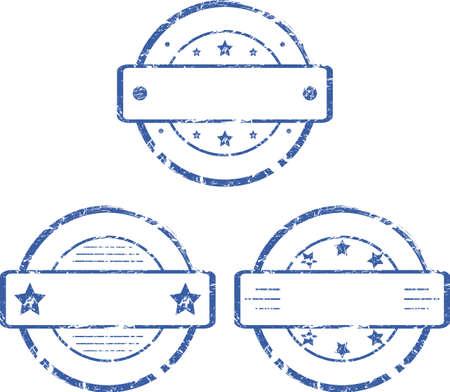 Una serie di francobolli rotondi vuoti 2 Vector