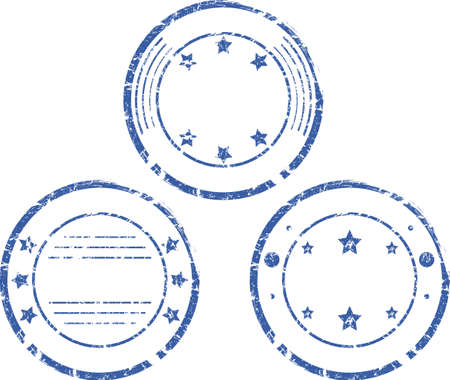 A set of empty round stamps  Vector Vector
