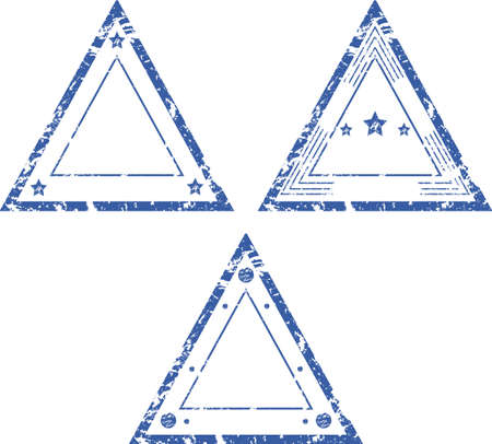 A set of empty triangular stamps Vector