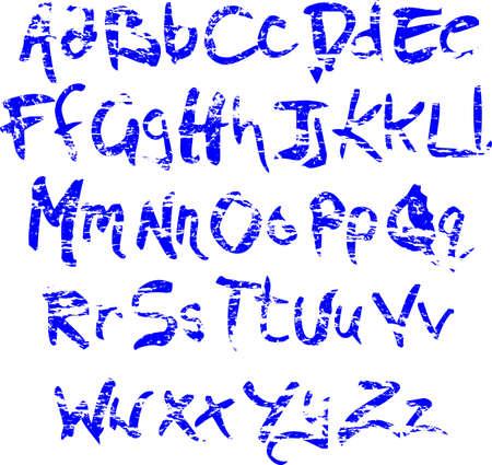 Grunge alphabet pigae  Vector
