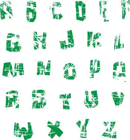 Grunge alphabet ultimaum  Vector
