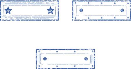 Set di vuoto rettangolare francobolli Vector