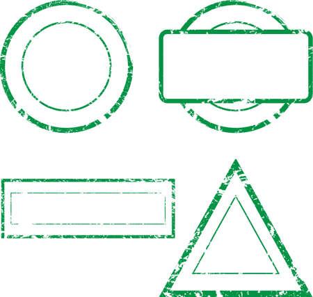 Set di francobolli vuoti Vector