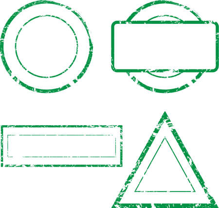 Set of empty stamps  Vector Vector