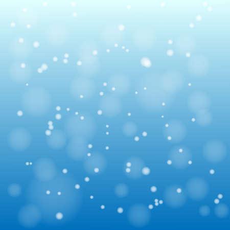 Neve su sfondo blu vettore Vettoriali