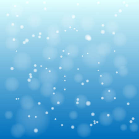 Snow on the blue background vector