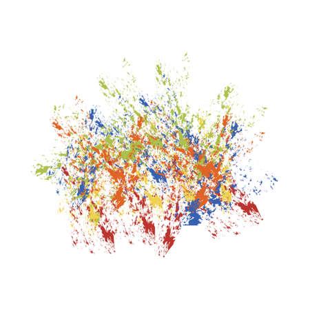Spot paint  abstraction vector Illustration