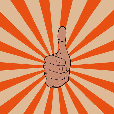 Thumbs up on the move  Vector