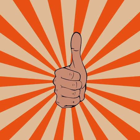 Thumbs up sul vettore movimento
