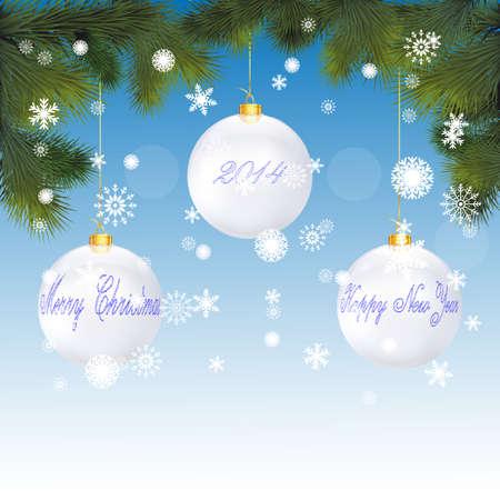 Cartolina di Natale con i fiocchi di neve Vector
