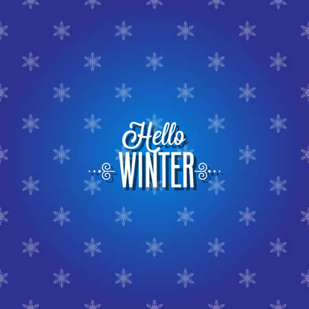 Winter Card with Snowflakes  Vector
