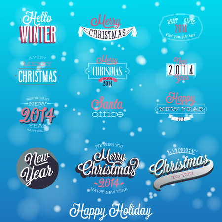 Christmas set - labels, emblems and other decorative elements  Vector Vector