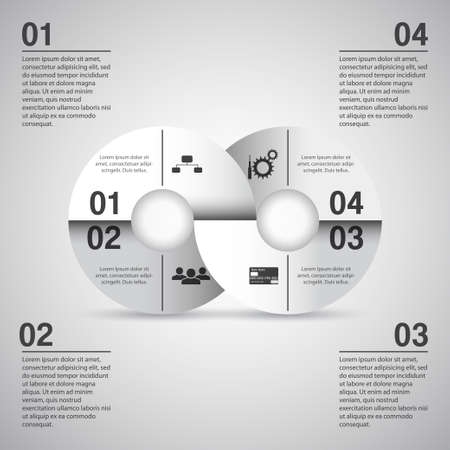 Infographics template on white background  Vector
