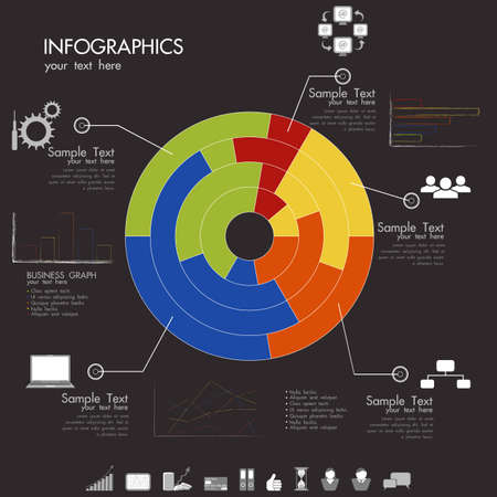 Impostare elementi di infographics Vector