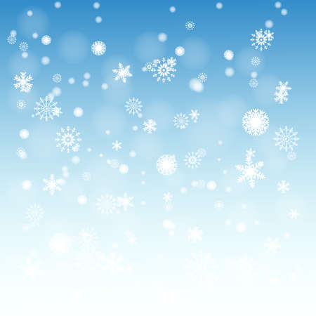 er: Snow on the blue background  Vector