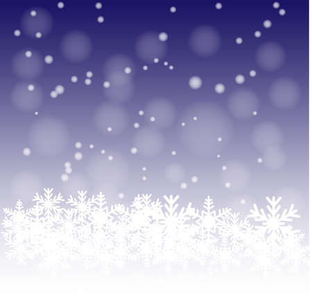 Snow on the blue background1  Vector