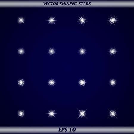 Vector brillanti stelle Vettoriali
