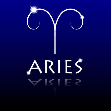 overbalance: Signs of the zodiac  Aries Illustration