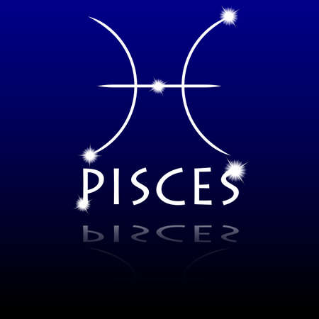 Signs of the zodiac  Pisces Illustration