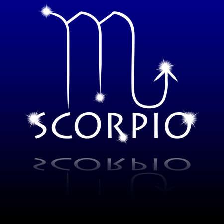 Segni dello zodiaco Scorpione Vettoriali