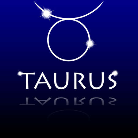 Signs of the zodiac  Taurus Illustration