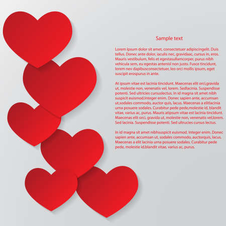 Abstract Valentines Day Background  Red and white