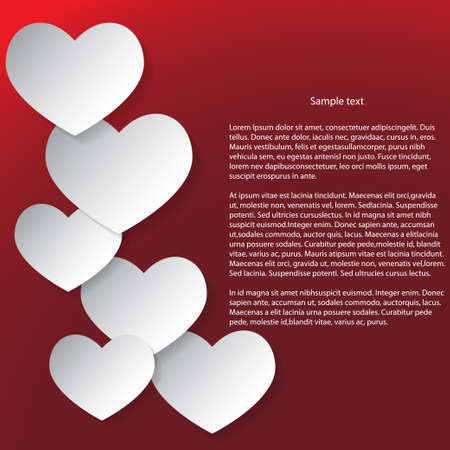 Abstract Valentines Day Background  White and red