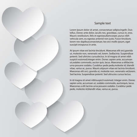 Abstract Valentines Day Background  White