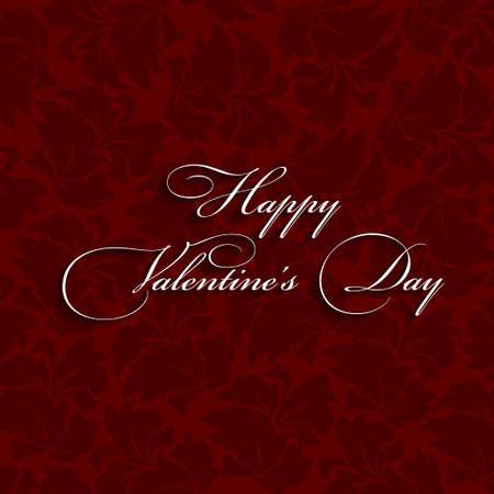 Text design of happy valentine day  Dark red Illustration