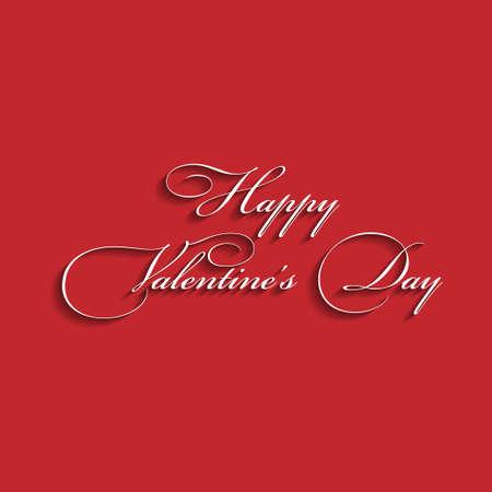 Text design of happy valentine day  Red