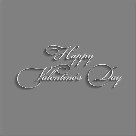 Disegno di testo di felice giorno di San Valentino