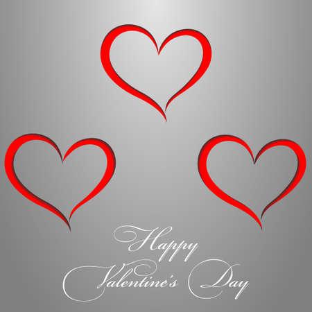 Carta di San Valentino da carta grigia Red